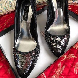 White House / Black Market Athena Sequined Heels